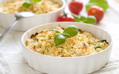 Crumble au saumon